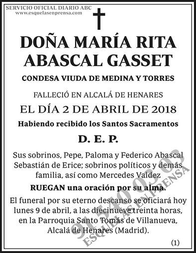 María Rita Abascal Gasset